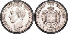 GREECE 1868 A Two 2 Drachmai George I KM# 39 -TKT
