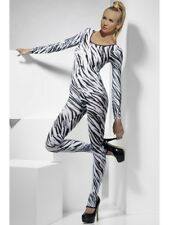 Body Suit Zebra Animal Print Bodycon Ladies Black White Lingerie New