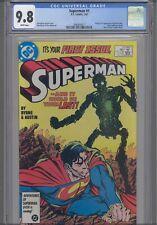 Superman #1 CGC 9.8 1987 DC 1st App & Origin New Metallo, John Byrne: New Frame