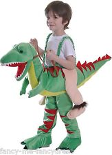 Niña Niño PASO EN montable Verde Dinosaurio Disfraz Halloween Disfraz