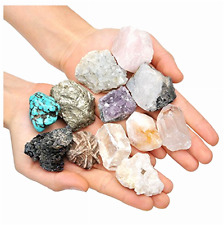 Rough Stones Crystal Mix Natural Pure Raw Wicca Reiki Healing 5 PCS SUPER LARGE
