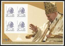 Slowakei aus 2003 ** postfrisch Folienblatt MiNr. 466 SK - Papstbesuch!