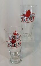Molson Canadian beer glasses set 2