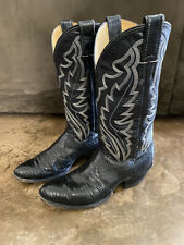 Justin Cowboy Western Boots Exotic Lizard Skin Style 8313 Mens Size 7D