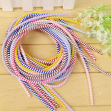 DIY Spiral Phone USB Data Charging Cable Wire Cord Wrap Protector Winder 1.4M