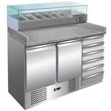 Banco Pizza Refrigerato 2 Porte 6 cassetti Vetrina Refr. Piano granito export