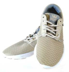 Supra Hammer Run Mens Cement Grey White Size 3 Trainers - No Box