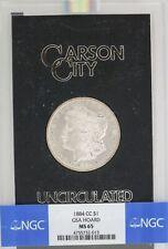 1884 CC $1 Morgan Silver Dollar NGC MS65 GSA Hoard