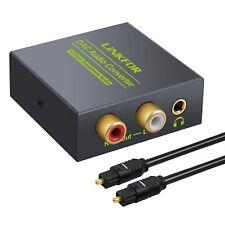 Adattatore Audio Digitale ad Analogico, Coassiale Ottico a RCA L/R + Cavo Ottico
