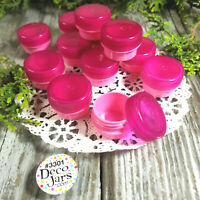 50 PINK 1/4oz Plastic JARS 1 Teaspoon Screw Top Lid Cap Container 3301 DecoJars