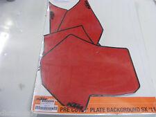 kit stickers fond de plaque numéro rouge KTM  SX 11-12   SMR  2012  EXC  12-13