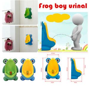 Kids Baby Potty Toilet Training Urinal Boys Pee Trainer Cute Frog Shape Bathroom