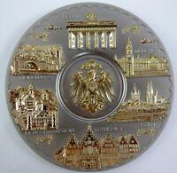 Teller Plate Germany Souvenir Metall Wandteller 14 cm ,Köln Berlin Frankfurt .