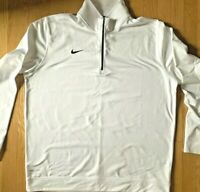 Brand New Nike Dri-Fit Quarterzip Pullover White Men's XL