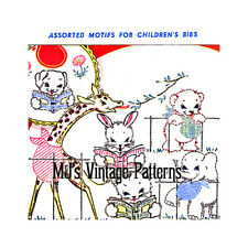 Vintage Children's Animals Embroidery Pattern