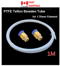PTFE Teflon Tube 2 Fittings 3D Printer PC4-01 Reprap V5 V6 J-head Bowden Hotend