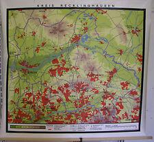Schulwandkarte Wandkarte map Kreis Veste Stadt Recklinghausen 35T 128x124 Marl