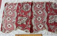 Antique c1770 French Turkey Red Toile de Jouy Hand Blocked Indienne Fabric~16X29
