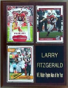 Larry Fitzgerald Arizona Cardinals 3-Card 7x9 Plaque