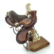 Handmade Leather Mini Saddle Scents Air Freshener Holder Cactus Jacks Western