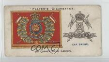 1924 Player's Drum Banners & Cap Badges #14 9th Queen's Royal Lancers Card 1i3