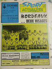 PROGRAMME  SPORTS ACTUALITES  ASSE FOOTBALL GIRONDINS BORDEAUX  football 1971