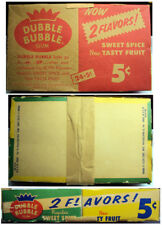 1950's Fleer Dubble Bubble Bubblegum Counter Display Box Empty