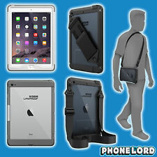 Genuine Lifeproof Nüüd Nuud case cover iPad Air 2 + hand shoulder strap White