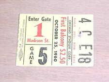 1960 Chicago Blackhawks v Montreal Canadiens Hockey Ticket 10/25 Score 8-4