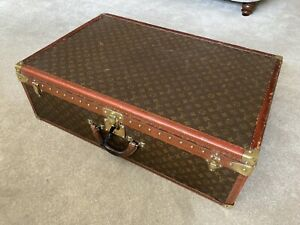 Authentic Vintage Louis Vuitton Monogram Alzer 80 Hard Suitcase Trunk Luggage