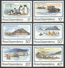 Ross Dependency 1982 Penguins/Tractor/Buildings/Birds/Antarctic 6v set (n33304)