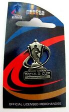 33673 RUGBY LEAGUE WORLD CUP RLWC 2008 SILVER TROPHY CUP PIN BADGE COLLECTABLE
