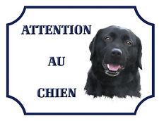 """Plaque Alu 15x20cm """"Attention au chien"""" Labrador"""