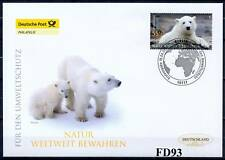 RFA 2008: Ours blanc Knut dans Berlinois Zoo Post-FDC N° 2656! Timbre de Berlin!