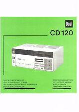 Dual manual de instrucciones para CD 120 copy