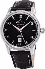 Alpina Men's Alpiner Black Dial Leather Strap Swiss Automatic Watch AL-525B4E6