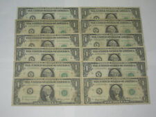 Lot (12) 1963-A One Dollar Fowler Notes All K/A Block 11Ka $1 Great Collection