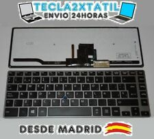 TECLADO ESPAÑOL Toshiba Tecra Z40-AK01M RETROILUMINADO BACKLIGHT MARCO GRIS PLAT