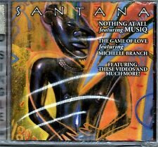 SANTANA NOTHING AT ALL / THE GAME OF LOVE DVD SINGLE SEALED