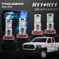 H11 CREE LED Headlight Conversion Kit Tacoma 2016-2019 High Low Beam Combo Set