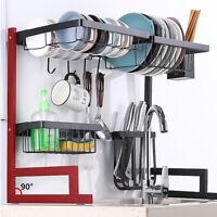 Dish Drying Rack Over Sink Kitchen Supplies Storage Drainer Organizer Utensils