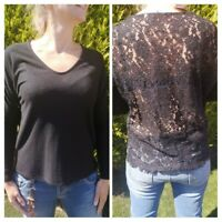 Size 8 black Jumper with lace back. Long sleeves RRP £20.00