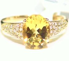 White Diamond Vintage Engagement Ring Deco 2.50Ct 14K Solid Gold Natural Beryl