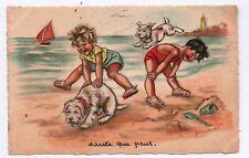 Carte postale GERMAINE BOURET. Saute qui peut ! Carte MS Paris dos vierge