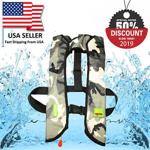 Black Friday Deal M-33 Premium Manual Life Jacket Vest Auto Inflatable PFD