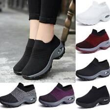 Damen Turnschuhe Leicht Luftkissen Sneaker Socken Freizeitschuhe Sportschuhe Neu