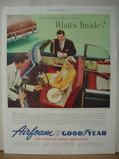 1953 Airfoam by GoodYear Car Upholstery Ad Convertible Vintage Print Ad 10549