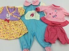 """Lot Of 14"""" Baby Doll Clothes Outfits Fits Larger Baby Alive 1c"""