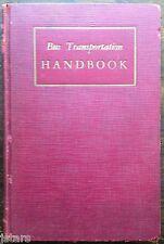 BUS TRANSPORTATION HANDBOOK, PASSENGER BUS WIRING DIAGRAMS, 1934