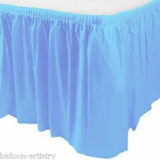 14ft Plastic BABY BLUE Table Skirt wedding party